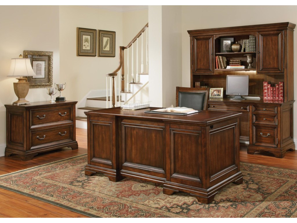 Shown with Lateral File, Executive Desk and Hutch