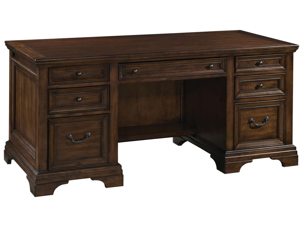 Flexsteel Wynwood Collection WoodlandsExecutive Desk