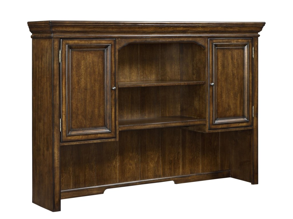 Flexsteel Wynwood Collection WoodlandsL-Shaped Desk and Hutch