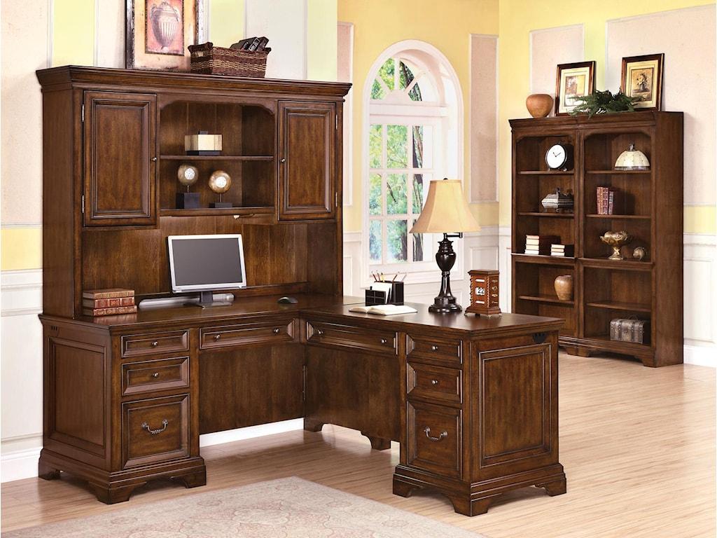 Flexsteel Wynwood Collection WoodlandsL-Shaped Desk