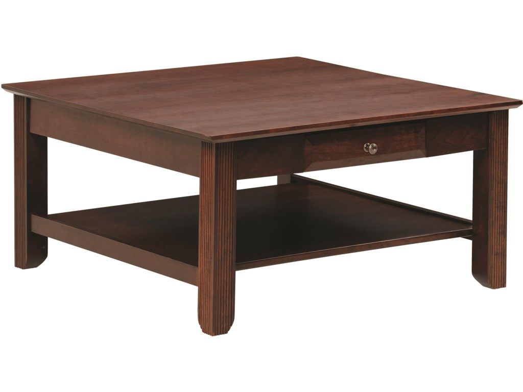 Y T Woodcraft Arlington Square Coffee Table With Drawer