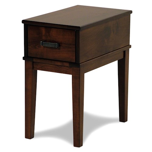 Y & T Woodcraft Asbury Amish Built Maple Chairside Table
