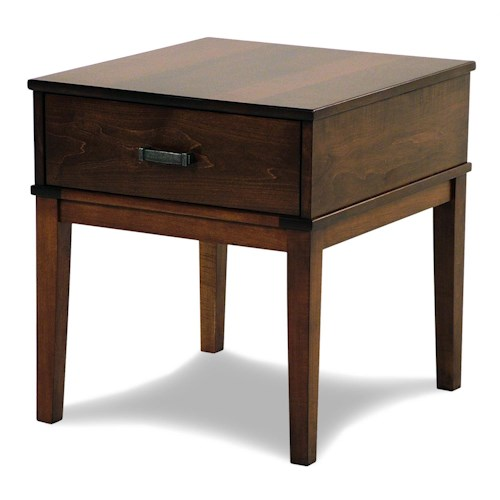 Y & T Woodcraft Asbury Amish Built Maple End Table