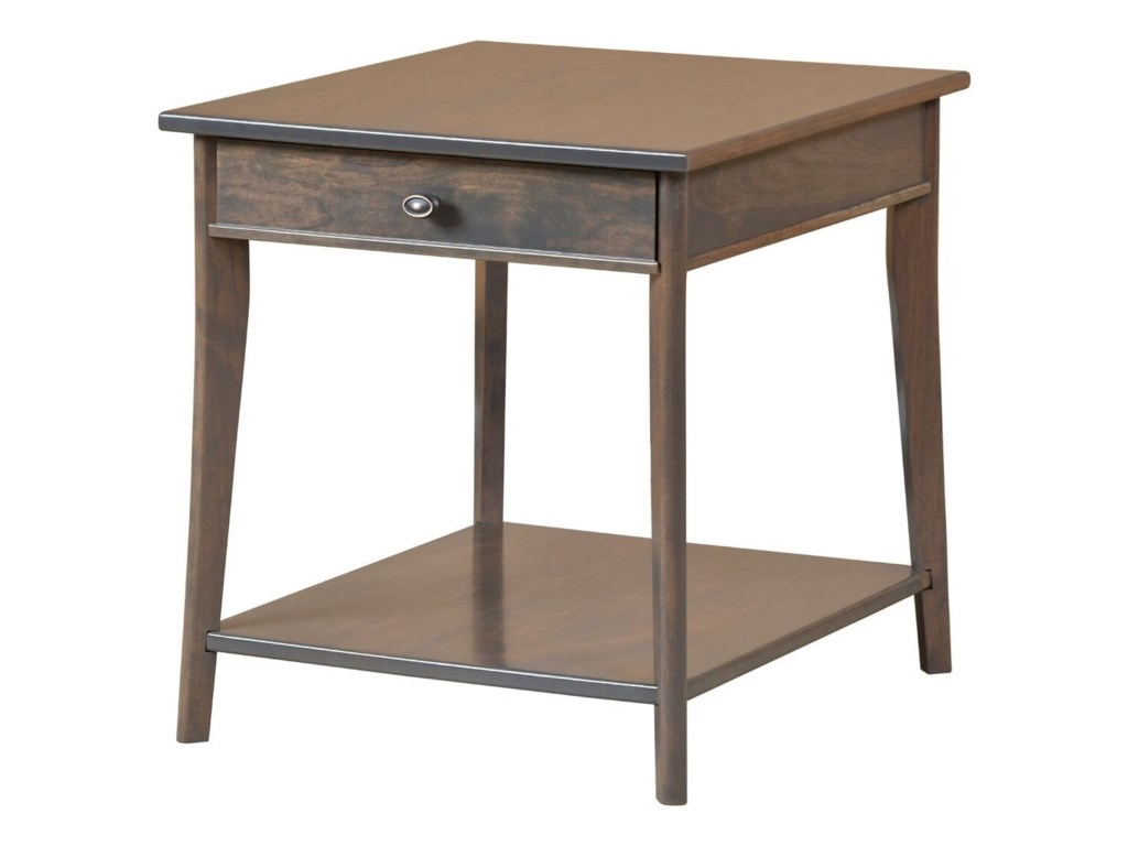 Y & T Woodcraft Austin Transitional Solid Wood End Table