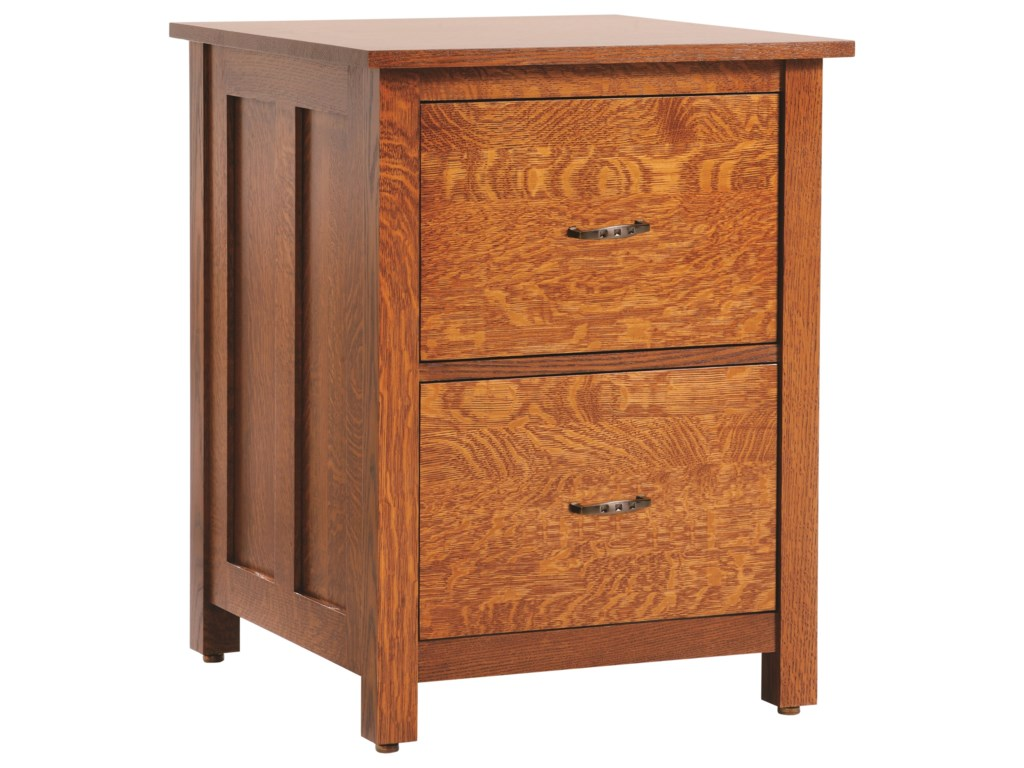 Y T Woodcraft Coventry Mission File Cabinet With 2 Drawers