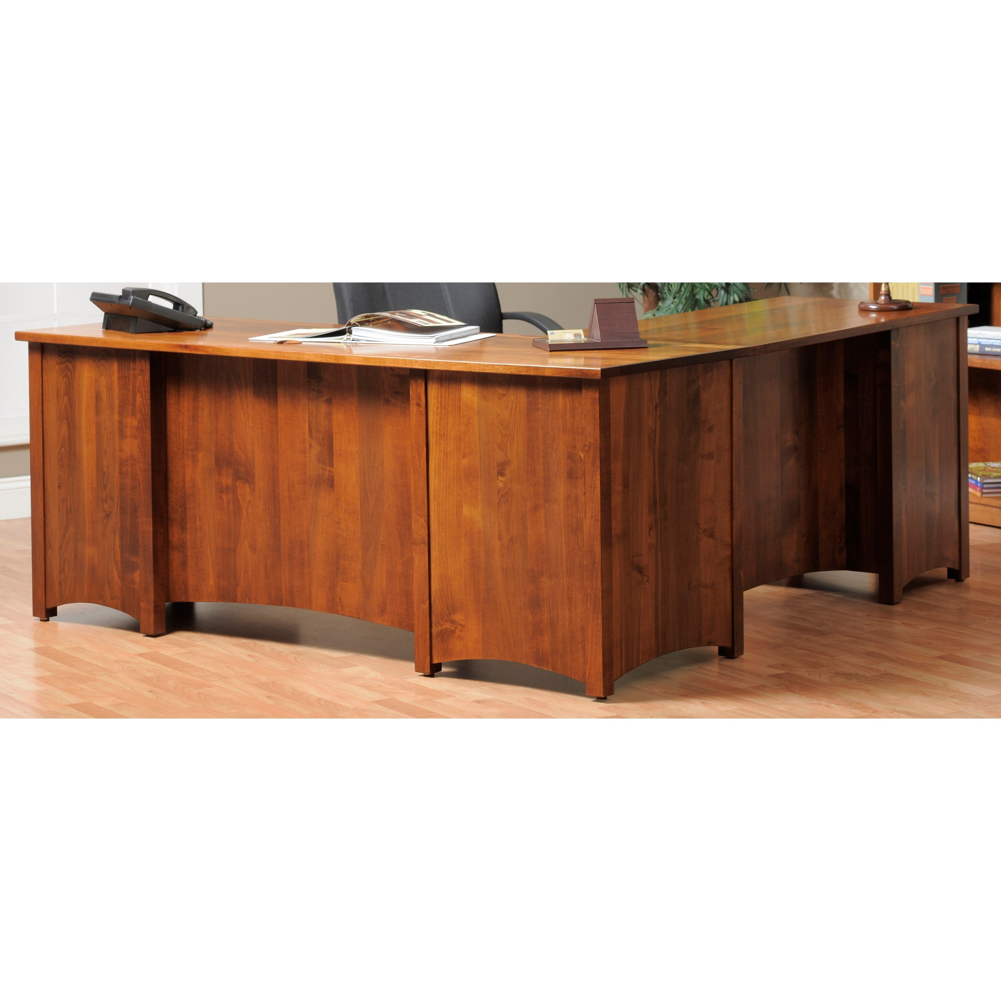 Y U0026 T Woodcraft Rivertown Home Office L Desk And Hutch
