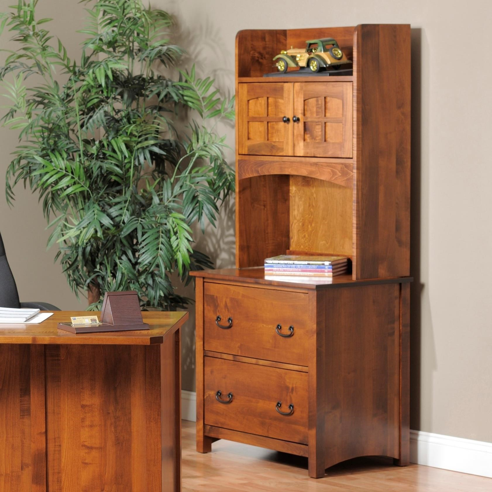 Y T Woodcraft Rivertown Home Office Lateral File Cabinet