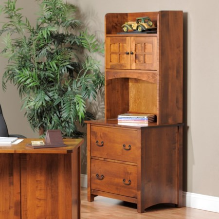 Lateral File Cabinet and Hutch