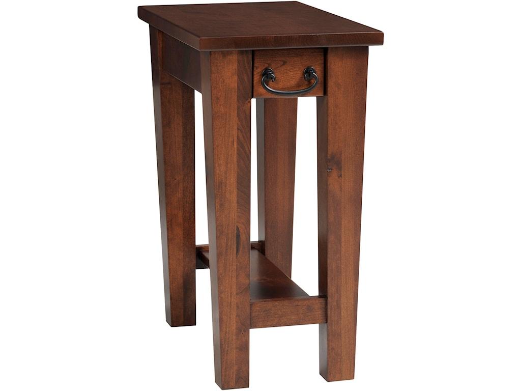 Y & T Woodcraft Urban ShakerChairside Table