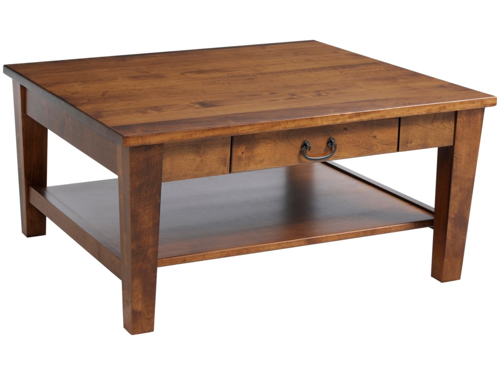 Y t woodcraft urban shaker square shaker coffee table with y t woodcraft urban shaker square shaker coffee table with drawer saugerties furniture mart cocktailcoffee tables geotapseo Images