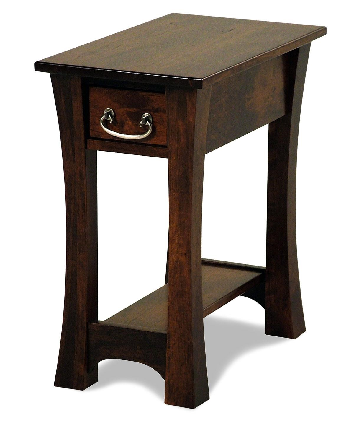 Woodbury Amish Built Cherry Chairside Table By Y U0026 T Woodcraft At Rotmans