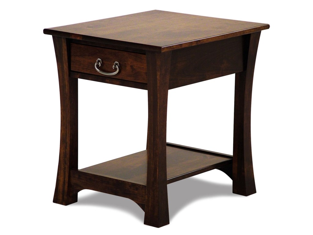Woodbury Amish Built Cherry End Table