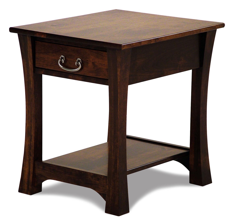 Beau Woodbury Amish Built Cherry End Table By Y U0026 T Woodcraft At Rotmans