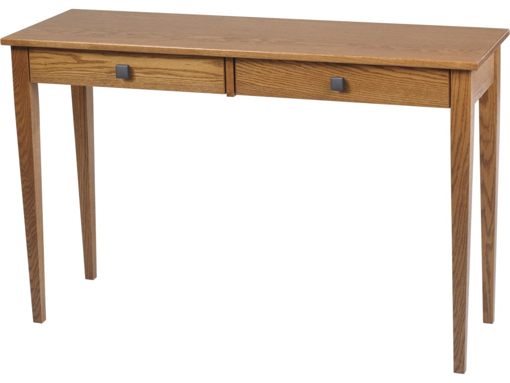 Y T Woodcraft Woodland Shaker Hall Table With 2 Drawers