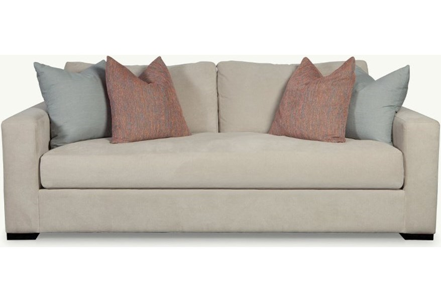 Younger Gia Contemporary Sofa with Bench-Style Seat Cushion ...