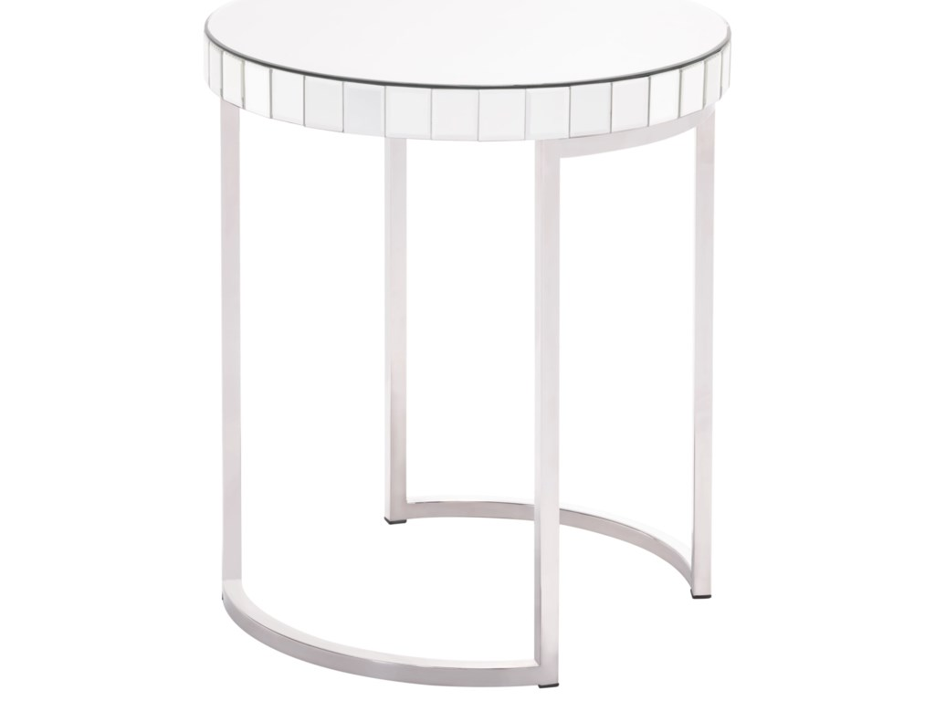 Zuo Accent TablesMirrored Circular End Table