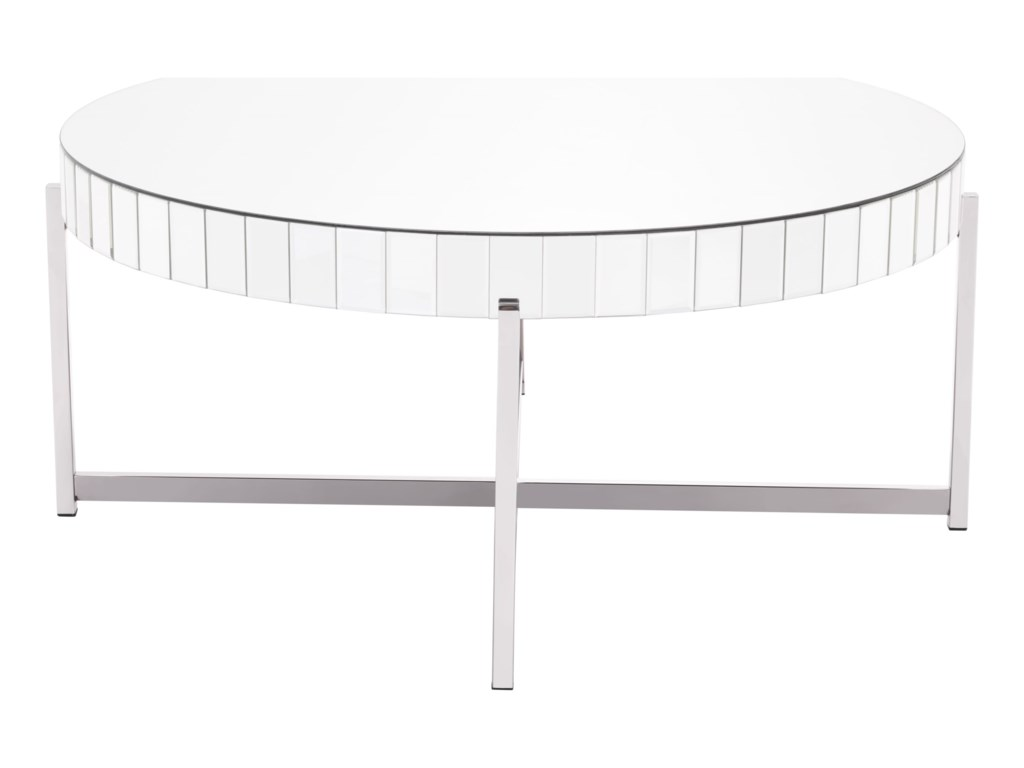 Zuo Accent TablesMirrored Circular Coffee Table