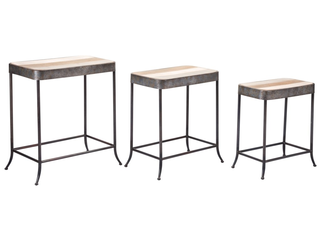 Zuo Accent TablesSet of 3 Multicolor Tables