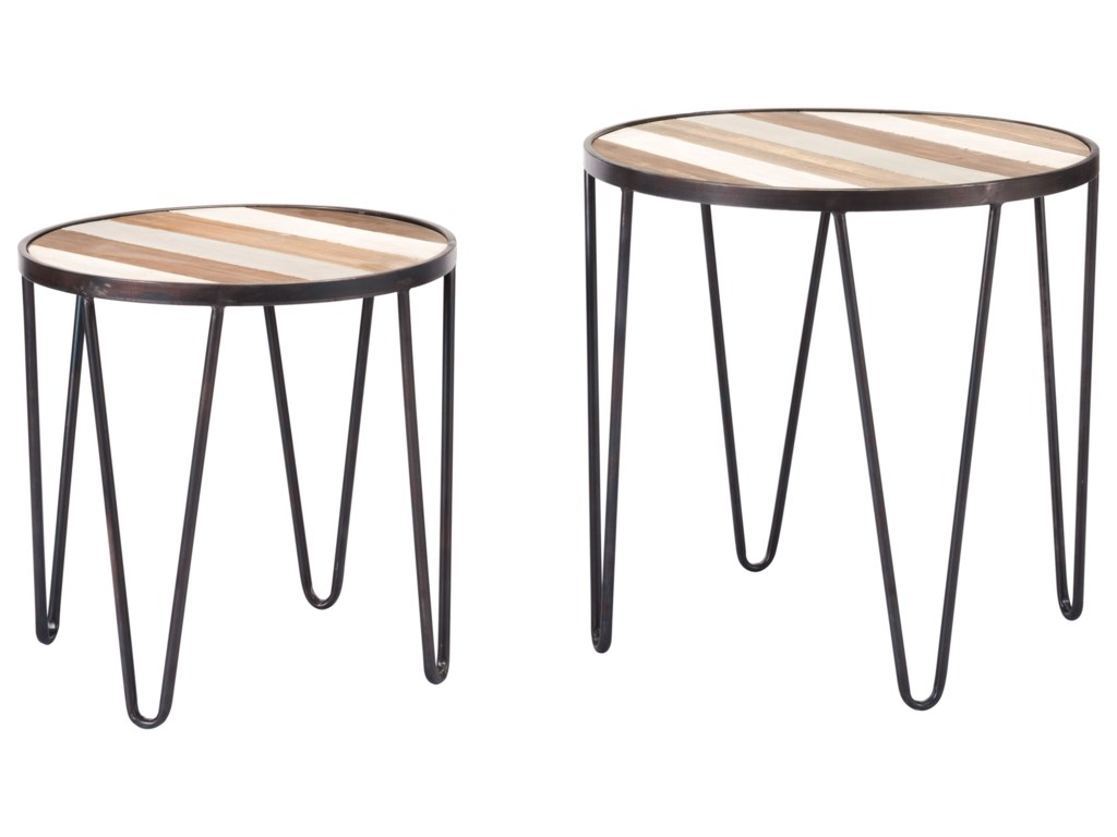 Zuo Accent TablesSet of 2 Multicolor Tray Tables