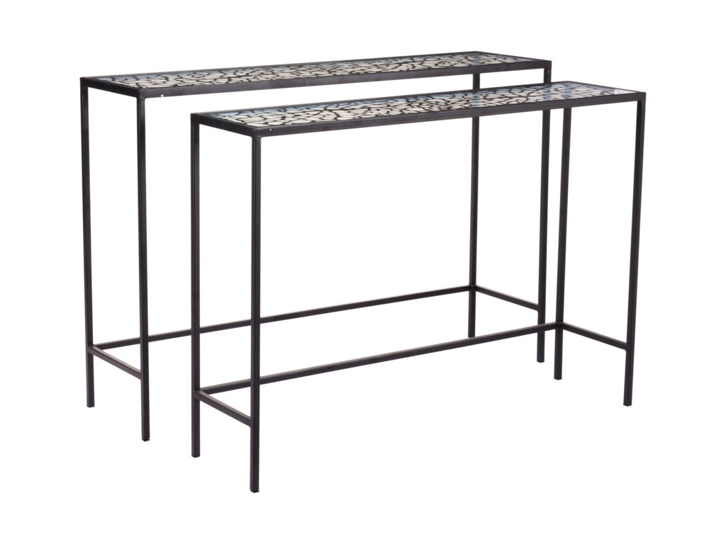 Zuo Accent TablesWeb Set of 2 Console Tables