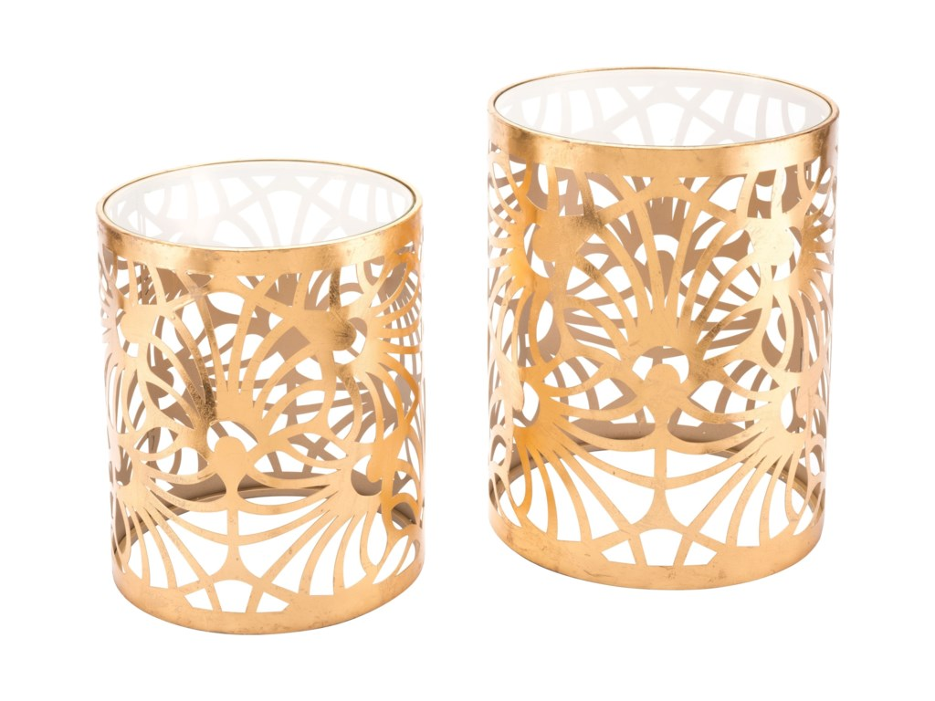 Zuo Accent TablesTropic Set of 2 Gold Tables