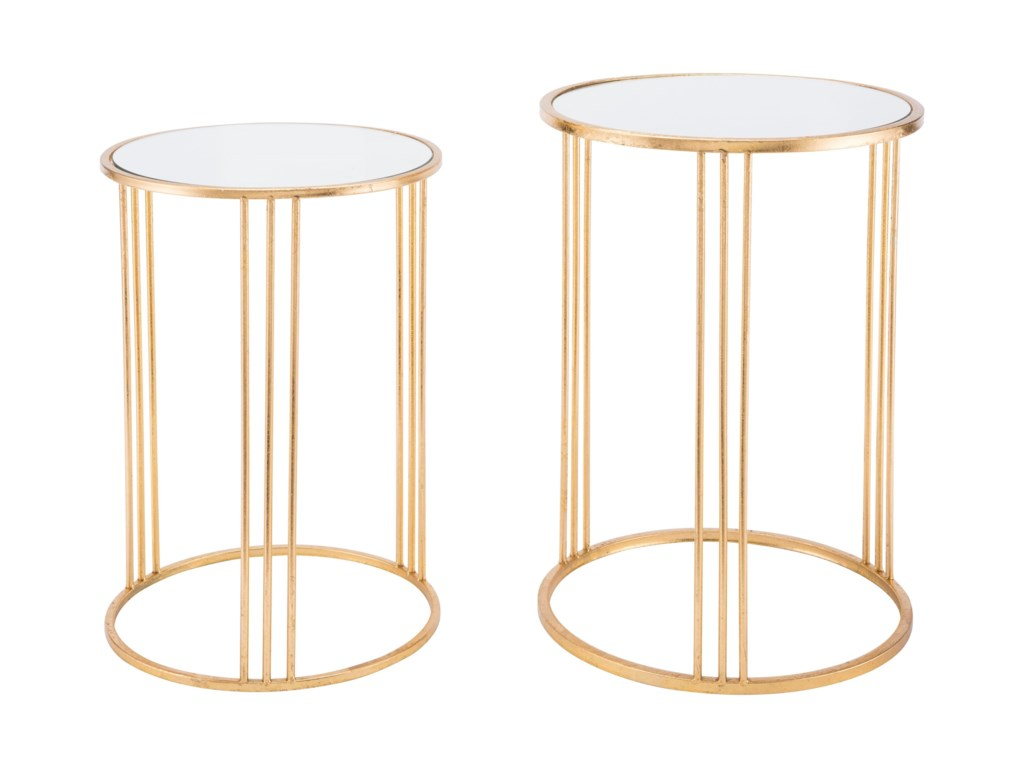 Zuo Accent TablesMagri Set 2 Nesting Round Tables