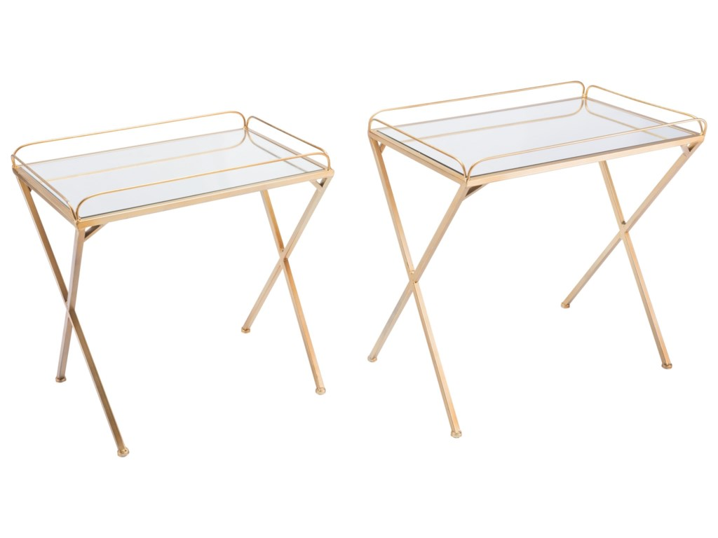 Zuo Accent TablesOpposite Set of 2 Tables