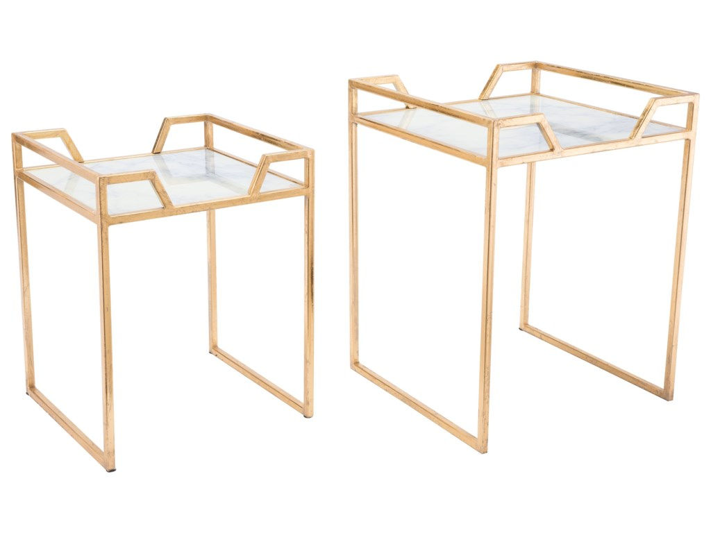 Zuo Accent TablesGreen Faux Marble Set of Tables