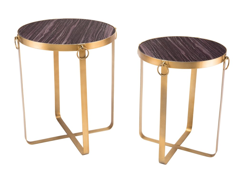 Zuo Accent TablesOnix Set of 2 Tables