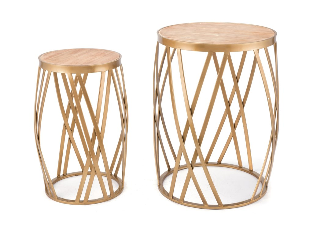 Zuo Accent TablesCriss Cross Set of 2 Tables
