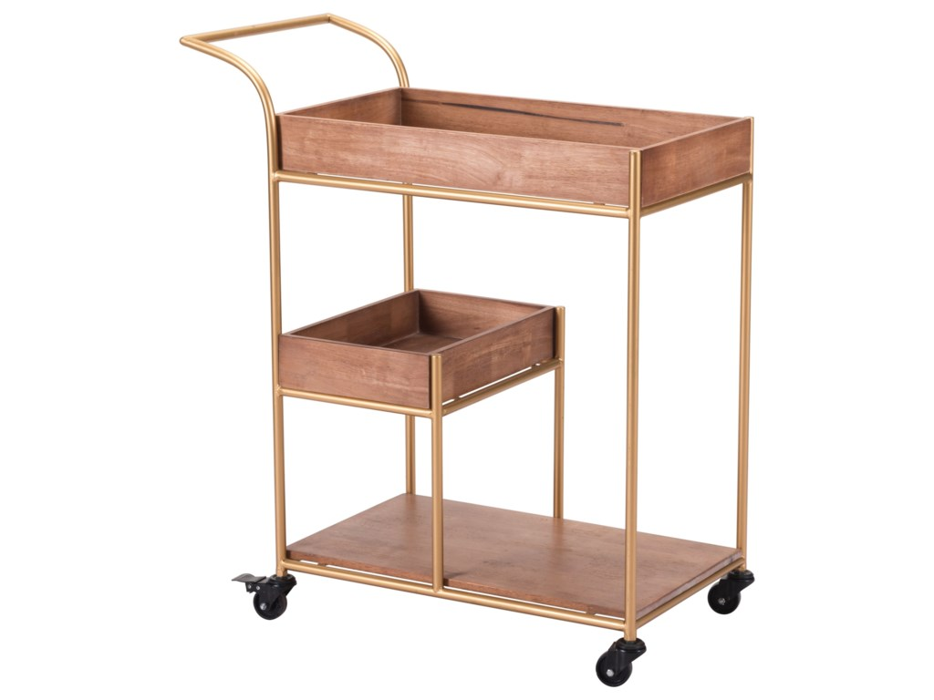 Zuo Accent TablesBar Cart with Tray