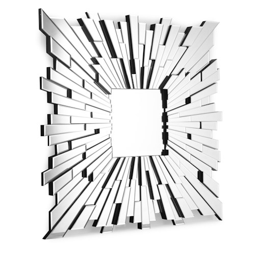 Zuo Accessory Faceted Square Mirror