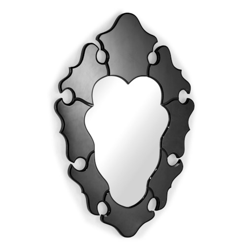 Zuo Accessory Bracketed Fractal Frame Accent Mirror