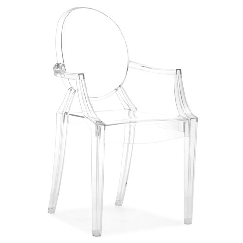 Zuo Bar Set of 5 Acrylic Dining Arm Chairs