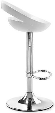 Zuo Bar Ergnonomic Seat Barstool with Chrome Steel Base and Footrest