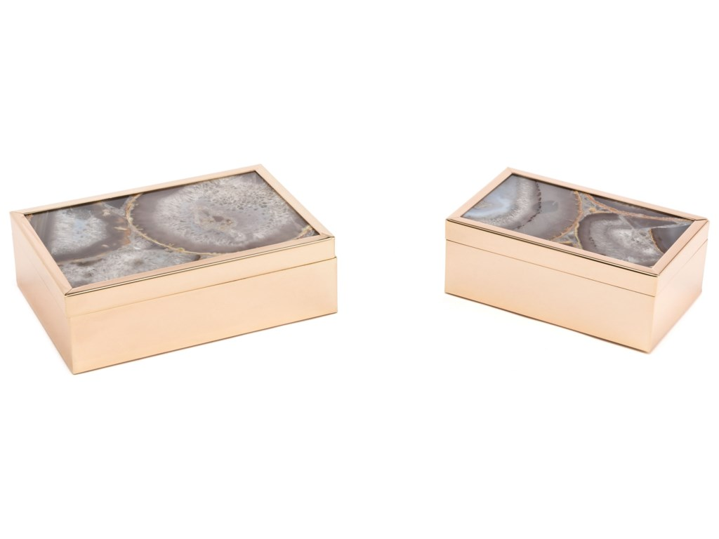 Zuo Boxes, Bowls and TraysWhite Stone Box Small