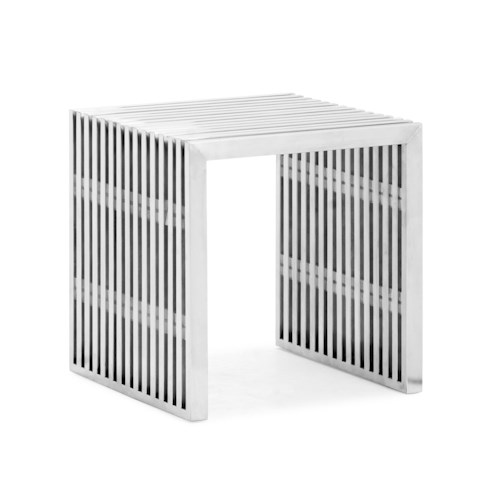 Zuo Modern Dining Accents Contemporary Stainless Steel Accent Bench