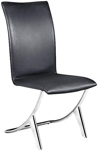 Zuo Modern Dining Accents Set of 2 Contemporary Leatherette Upholstered Dining Chairs