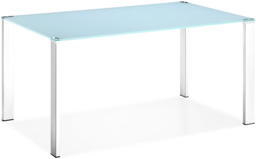 Zuo Modern Dining Accents Rectangular Painted Glass Top Dining Table