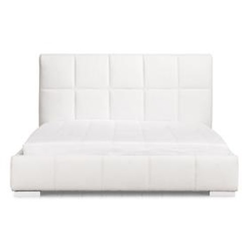 Zuo Modern Bedroom Contemporary King Size Quilted Leatherette Bed