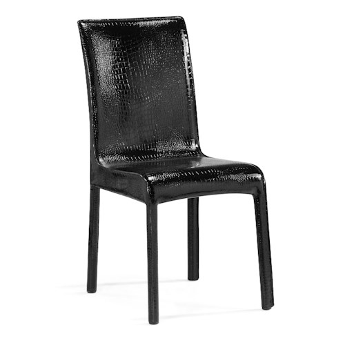 Zuo Modern Dining Accents Set of 2 Alligator Embossed Dining Chairs