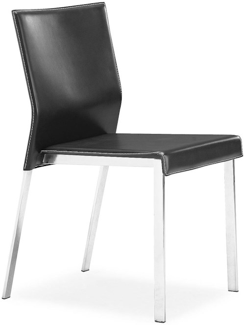 Zuo Modern Dining Accents Set of 2 Regenerated Leather Side Chairs