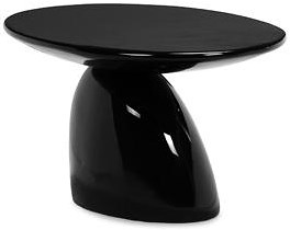 Zuo Modern Dining Accents Modern Fiberglass Occasional Table with Pedestal Base and Oval Top