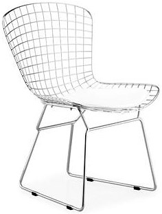 Zuo Modern Dining Accents Steel Wire Side Chair with Color Cushion