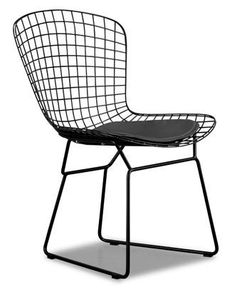 Elegant Zuo Modern Dining Accents Ultra Modern Wire Grid Side Chair