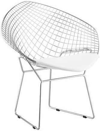 Zuo Modern Dining Accents Set of 2 Welded Steel Net Chairs
