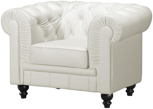 Zuo Occasional Collection Aristocrat Tufted Arm Chair