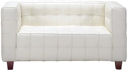Zuo Occasional Collection Fully Button Tufted Leather Loveseat