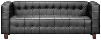 Zuo Occasional Collection Fully Button Tufted Leather Sofa