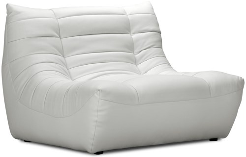 Zuo Occasional Collection Modern Low Seat Chair and a Half Upholstered in Leatherette